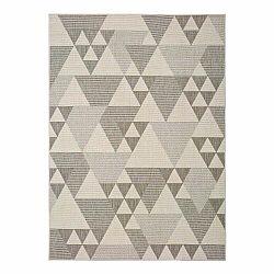 Béžový vonkajší koberec Universal Clhoe Triangles, 160 x 230 cm