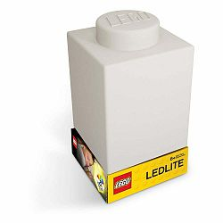 Biele silikónové nočné svetielko LEGO® Classic Brick