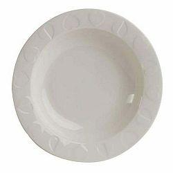 Biely keramický hlboký tanier Navigate Embossed