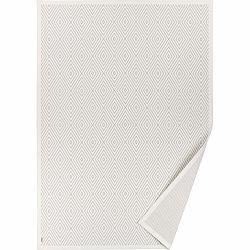 Biely vzorovaný obojstranný koberec Narma Kalana, 140 × 200 cm
