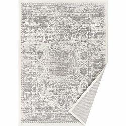 Biely vzorovaný obojstranný koberec Narma Palmse, 160 x 230 cm