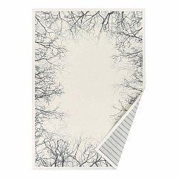 Biely vzorovaný obojstranný koberec Narma Puise, 160 × 230 cm