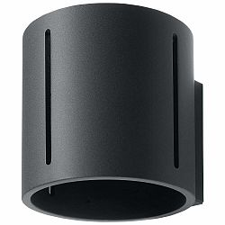 Čierne nástenné svietidlo Nice Lamps Vulco