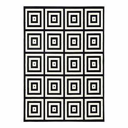 Čierno-sivý koberec Zala Living Duola, 140×200cm