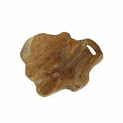 Doska na krájanie z teakového dreva HSM collection Flate, dĺžka 38 cm