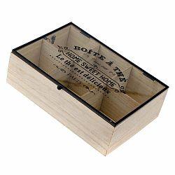 Drevená škatuľka na čaj so 6 priehradkami Dakls Hannah, 24 x 16 cm