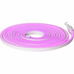 Fialová vonkajšia svetelná reťaz Best Season Rope Light Flatneon, dĺžka 500 cm
