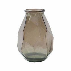 Hnedá váza z recyklovaného skla Mauro Ferretti Stone, ⌀ 25 cm