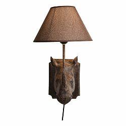 Hnedé nástenné osvetlenie Kare Design Rhino