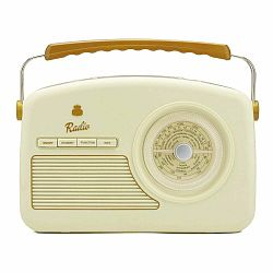 Krémovo-biele rádio GPO Rydell Nostalgic Dab Radio Cream