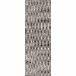Krémovo-čierny behúň vhodný do exteriéru Narma Diby, 70 × 150 cm