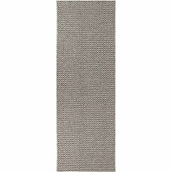 Krémovo-čierny koberec vhodný do exteriéru Narma Diby, 70 × 100 cm
