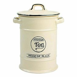 Krémovobiela keramická dóza na čaj T&G Woodware Pride of Place