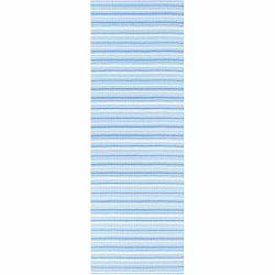 Modro-biely behúň vhodný do exteriéru Narma Hullo, 70 × 150 cm