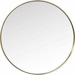 Okrúhle zrkadlo s rámom v mosadznej farbe Kare Design Round Curve, ⌀100 cm