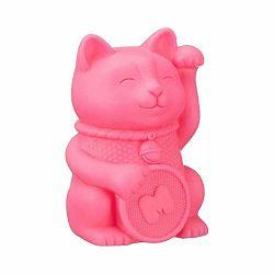 Ružové nočné svetielko Just Mustard Lucky Cat