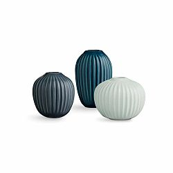 Sada 3 kameninových váz Kähler Design Hammershoi Miniature Cold Palette