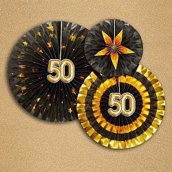 Sada 3 papierových dekorácií Neviti Glitz & Glamour 50 Goldie