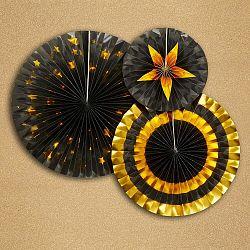 Sada 3 papierových dekorácií Neviti Glitz & Glamour Goldie