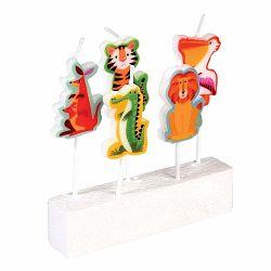 Sada 5 tortových sviečok Rex London Colourful Creatures