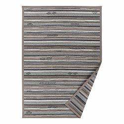Sivo-béžový vzorovaný obojstranný koberec Narma Liiva, 70 × 140 cm