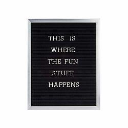 Sivý fotorám s nápisom PT LIVING Quote, 40×50 cm