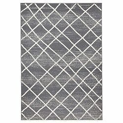 Tmavosivý koberec Zala Living Rhombe, 200×290cm