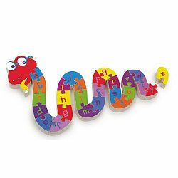 Vzdelávacie puzzle Legler ABC Snake