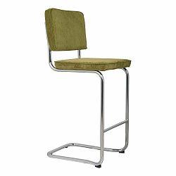 Zelená barová stolička Zuiver Ridge Kink Rib