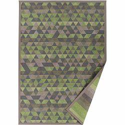 Zelený vzorovaný obojstranný koberec Narma Luke, 70 × 140 cm