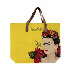 Žltá plátená taška Madre Selva Frida Roses, 55×40 cm