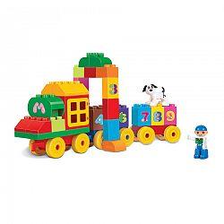 Baby Stavebnica Vlak s číslami, 63 ks