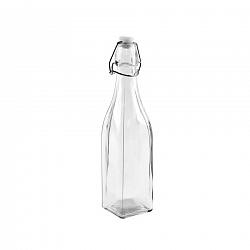 ORION Fľaša sklo CLIP uzáver 0,53 l hranatá