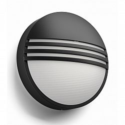 Philips 17296/30/16 Yarrow Vonkajšie nástěnné LED svietidlo 21 cm, čierna