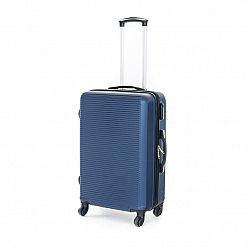 Pretty UP Cestovný škrupinový kufor ABS03 M, modrá