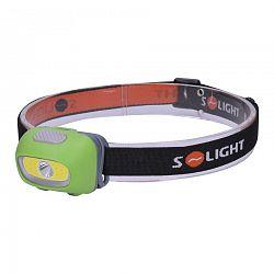 Solight WH24 Čelové LED svietidlo 3 W Cree + 3 W COB, čierna