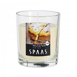 SPAAS Vonná sviečka v skle White Cake Vanilla, 7 cm