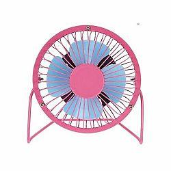 USB vetrák ružová, 13,5 x 11 x 15 cm
